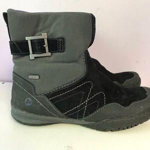 Merrell woman boots black/grey  short boot